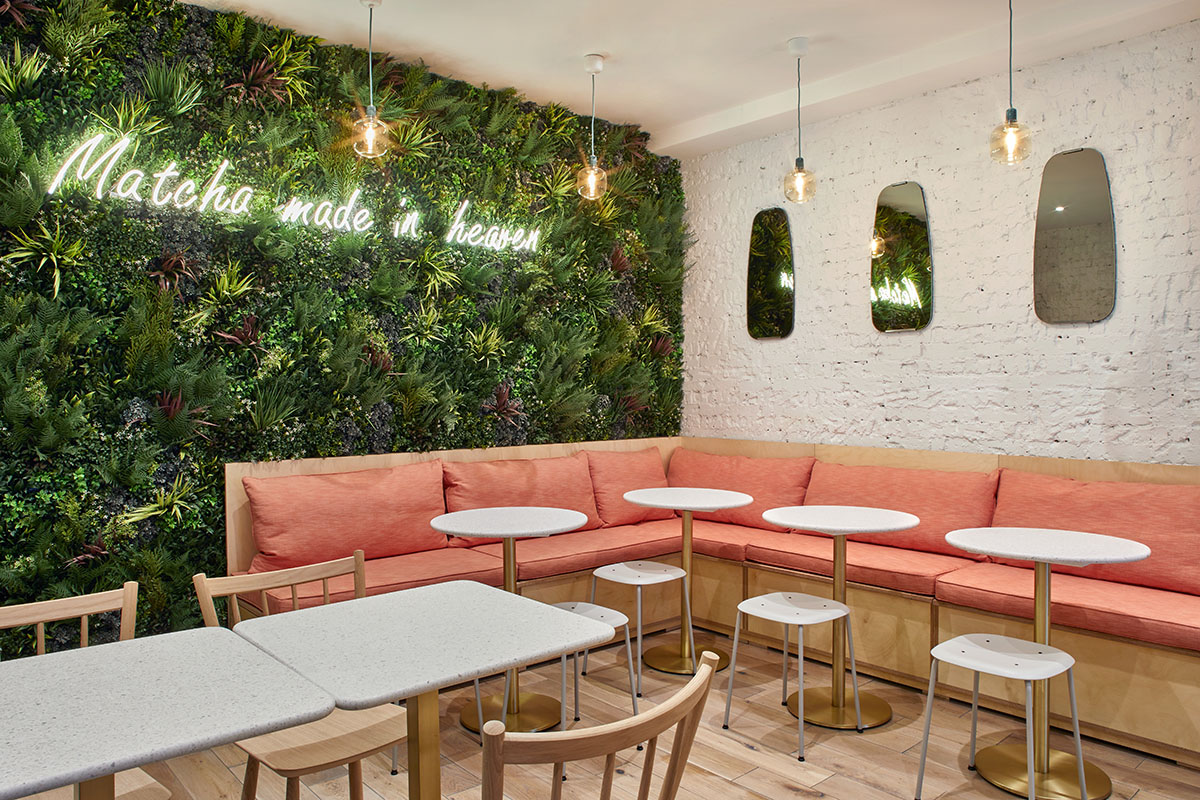 Matcha and Beyond Cafe Chelsea London Interior