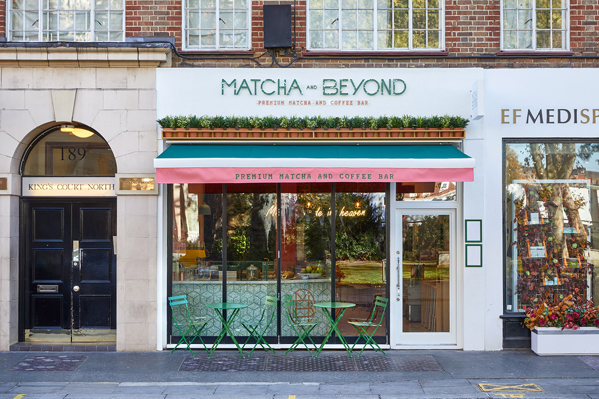 Matcha and Beyond Cafe Chelsea London Shopfront