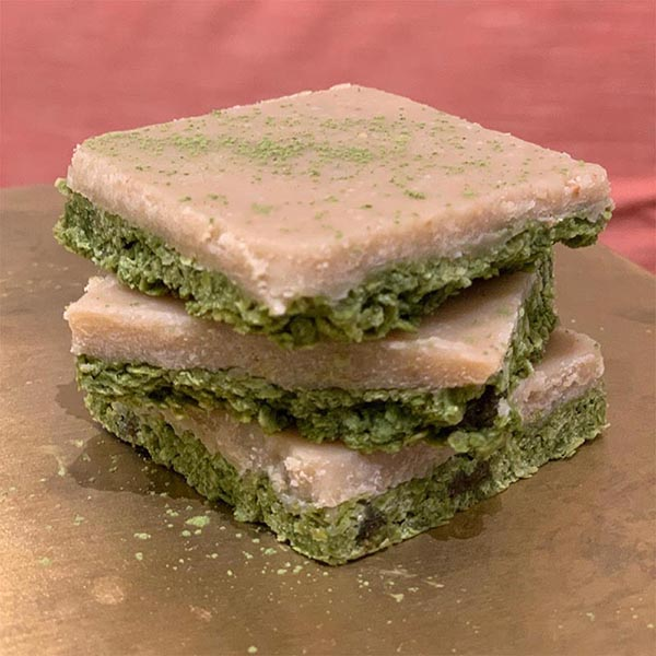 Matcha recipes - fudge square